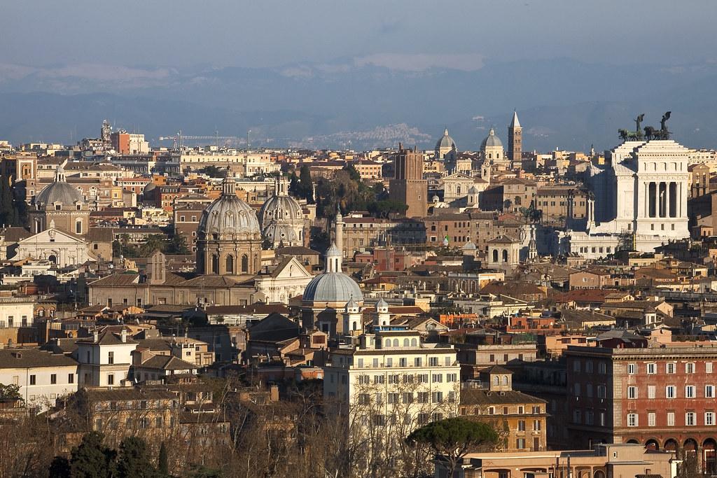 Roma Dal Gianicolo Aurelio Candido Flickr