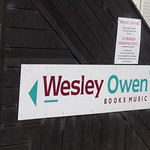 Wesley Owen Books and Music in Carrs Lane Church Centre - sign
