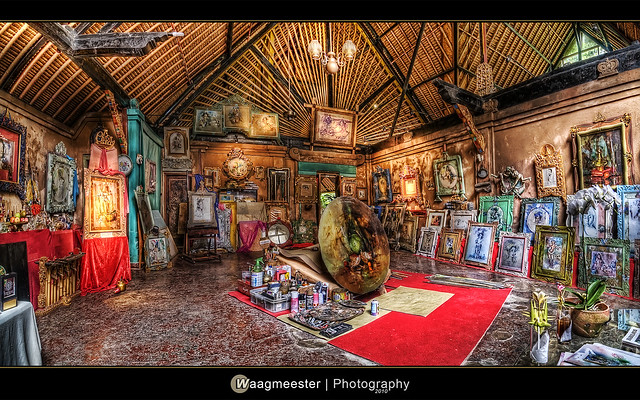 Antonio Blanco Museum Ubud - His Studio (in HDR)