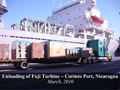 Unloading of Fuji Turbine at Corinto Port | by Ram Power Photo Gallery