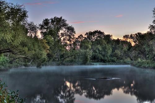 morning usa fog sunrise landscape northdakota fargo lindenwoodpark