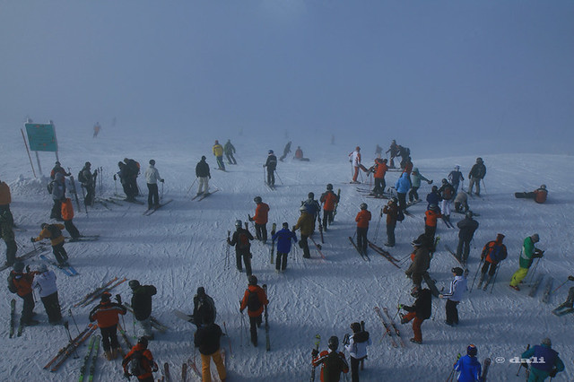 Ski at Gefrorene Wand, 3250m, Hintertuxer Gletscher, Austria