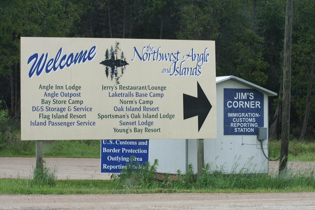 Northwest Angle Minnesota Ontario Border Crossing And Immi