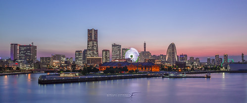 sunset tower clock japan night canon eos scenery asia cityscape 21 landmark after yokohama 24mm cosmo hdr minato mirai 6d