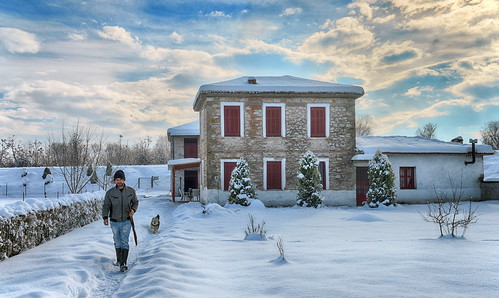 nomi nature snow winter trikala thessaly greece hellas rurallife rutalscenes rural villagelife