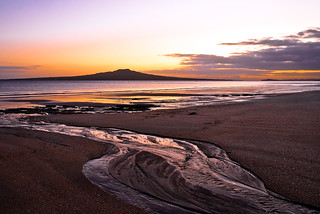 Rangitoto in Shades of Orange and Mauve | by Perambulations