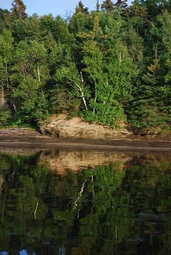 trees sunset canada reflection water nationalpark newbrunswick kouchibougauc