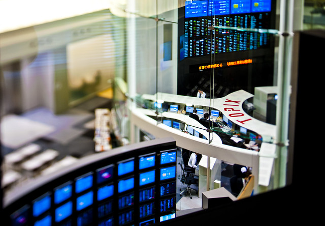 Tokyo Stock Exchange Floor