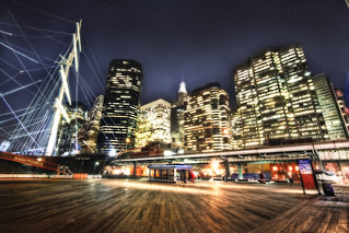 'A Matrix of Lights', South Street SeaPort, Financial District, NYC | by WanderingtheWorld (www.ChrisFord.com)