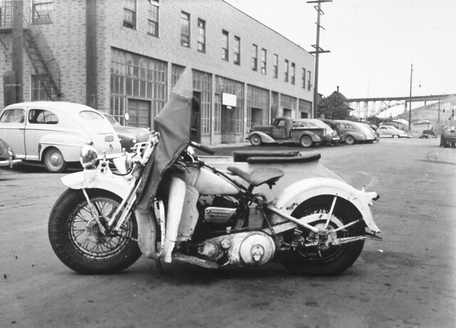 Harley Davidson Seattle >> 1935 Harley Davidson Motorcycle Photo Taken In 1949 Item