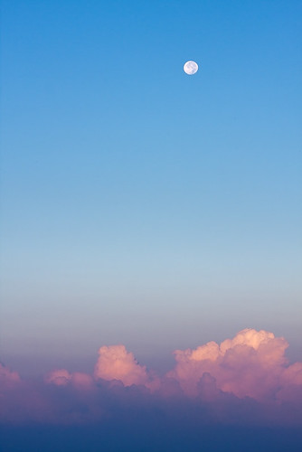 morning sky moon clouds sunrise dawn full gradient 3958