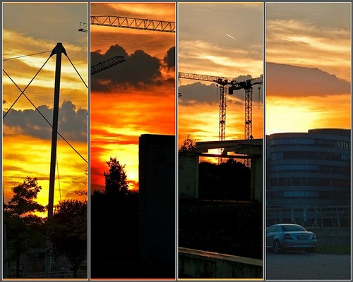 Sunset in Duisburg by potihu
