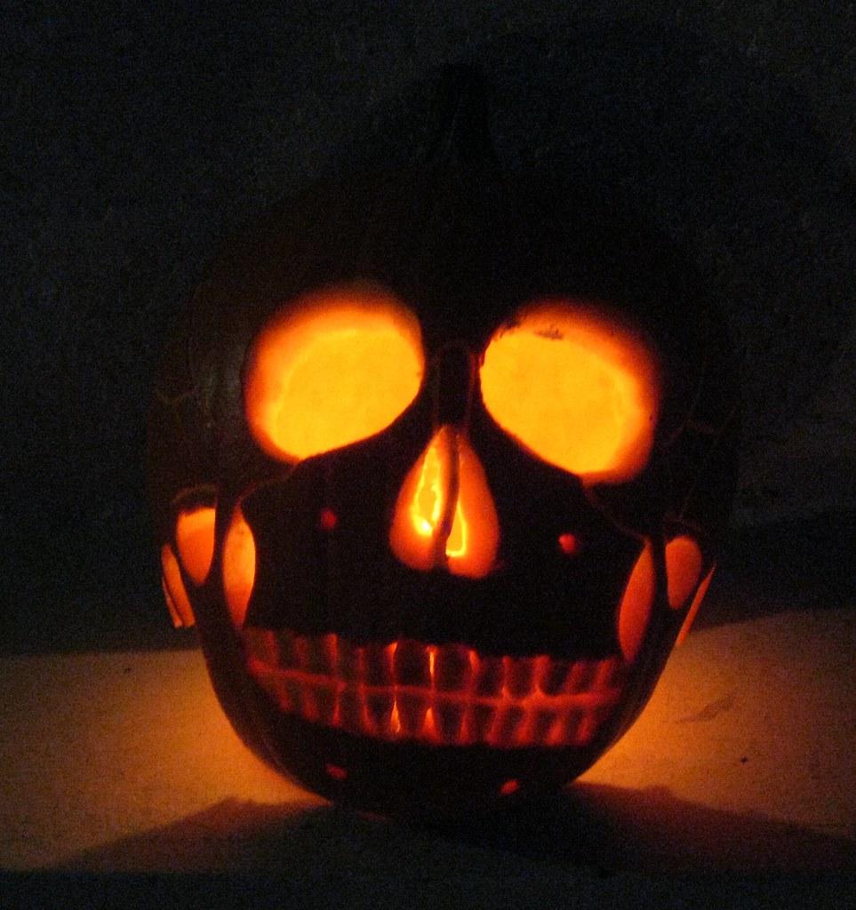 Skull Pumpkin 3 3 It Was A Skull Pumpkin Kind Of Hallowe Kelson Vibber Flickr