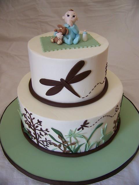 Monica's baby shower cake
