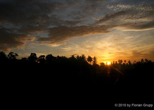 cloud beautiful silhouette train sunrise palms southeastasia bluesky malaysia ipoh butterworth malaya