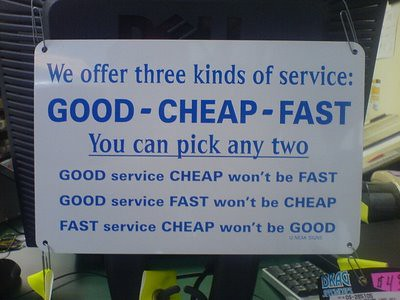 Service Design <good-cheap-fast> Way   by Cea.