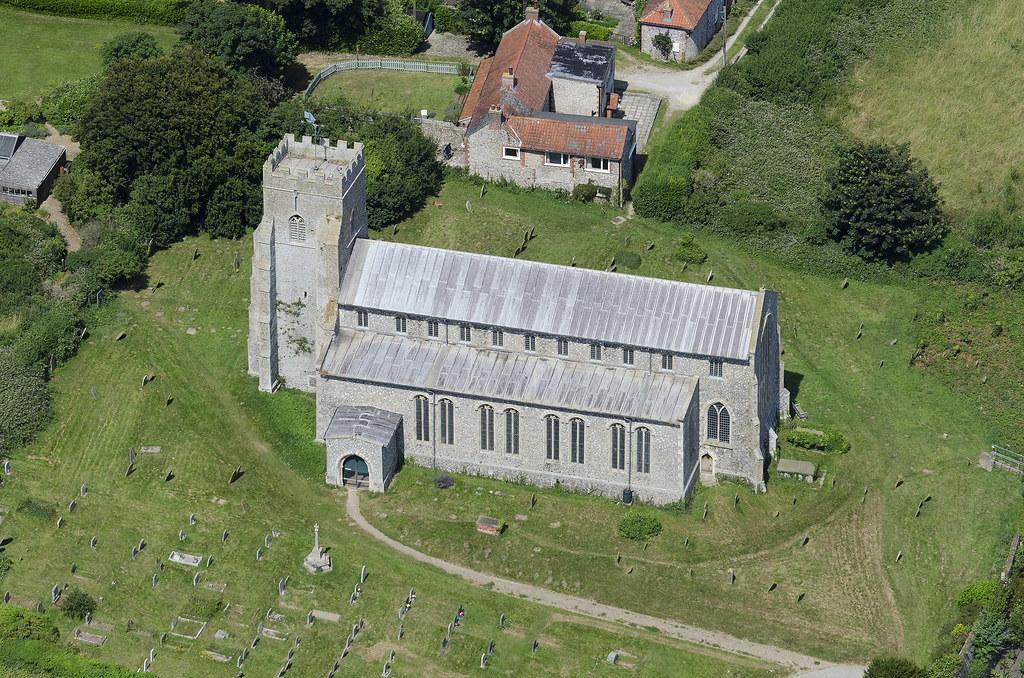 Salthouse St Nicholas church - aerial Norfolk | Salthouse ch… | Flickr