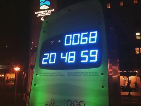 Vancouver 2010 Olympics clock fail