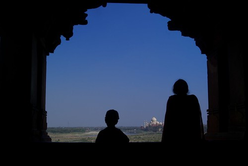 Taj Mahal at a distance