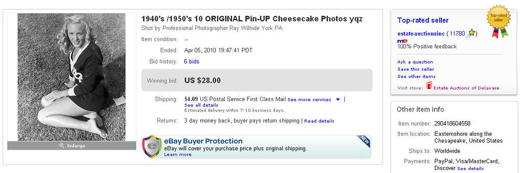 1940 S 1950 S 10 Original Pin Up Cheesecake Photos Yqz So Flickr