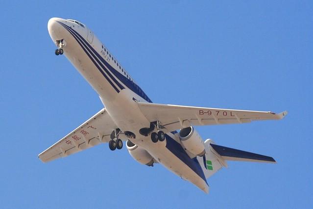 Avión de pasajeros en pleno vuelo