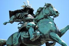 Tokyo - Kokyo-gaien: Kusunoki Masashige statue