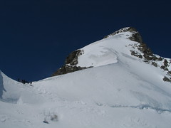 Takhle vypadá posledních 250 výškových metrů na vrchol.
