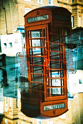 camera film 35mm holga lomo xpro lomography kodak doubleexposure crossprocess telephone double barber british 100 analogue kodakelitechrome100 telephonekiosk holga135bc 25thc