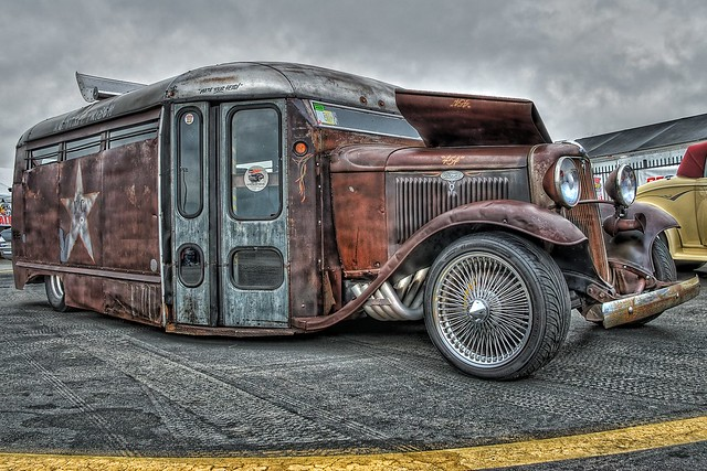 Rat Rod Bus Hot Rod Thing at the Southeastern Nationals