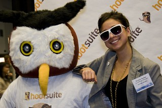 Owly HootSuite with fans at the F5Expo in Vancouver | by Hootsuite