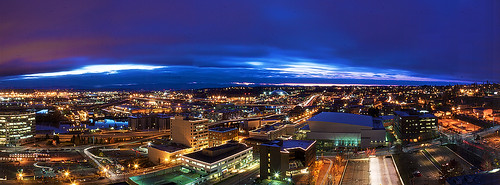 sunrise dawn hotel washington pano panoramic aerial tacoma murano