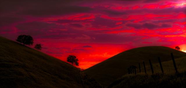 Afterglow, SLO Sunset - California, San Luis Obispo - 1988_B_030-2