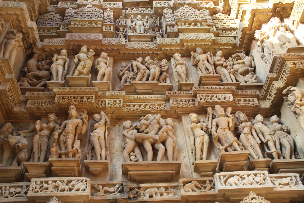 Erotic Temple Carvings, Lakshmana Temple, Khajuraho, India