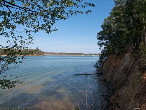 statepark lake water nc dam trail lakejames sandycliffoverlooktrail