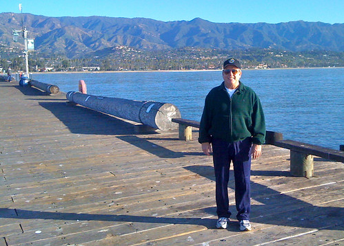 Tom on Santa Barbara pier   by Pat Groves