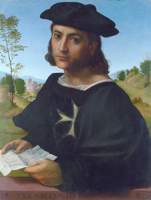 Franciabigio: Portrait of a knight of Rhodes (1514)