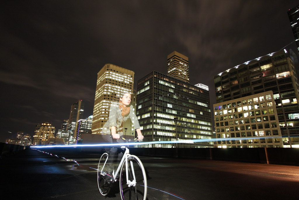 Night Rider | Lighting: Bike lights on the hubs and bar ...