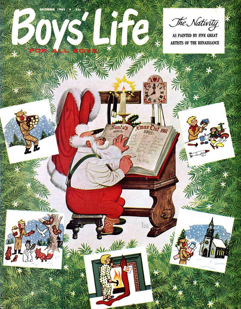 Boys' Life - published December 1961 - Illustration by Lowell Hess