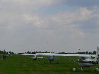 Busy traffic at Letnany airport