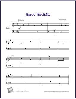 Happy Birthday | Free Sheet Music for Beginner Piano | Flickr