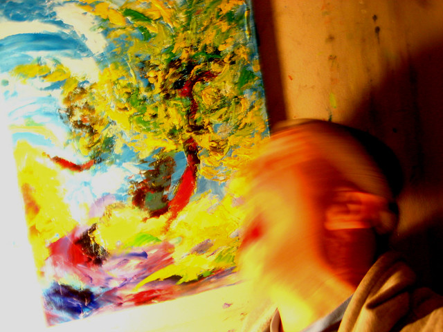 Being pulled into a painting