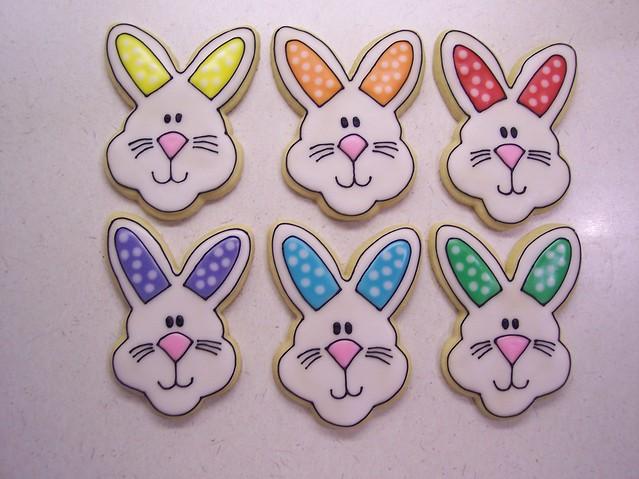 Rainbow Easter bunnies