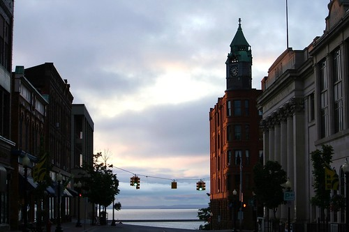 Downtown Marquette in the Sunrise