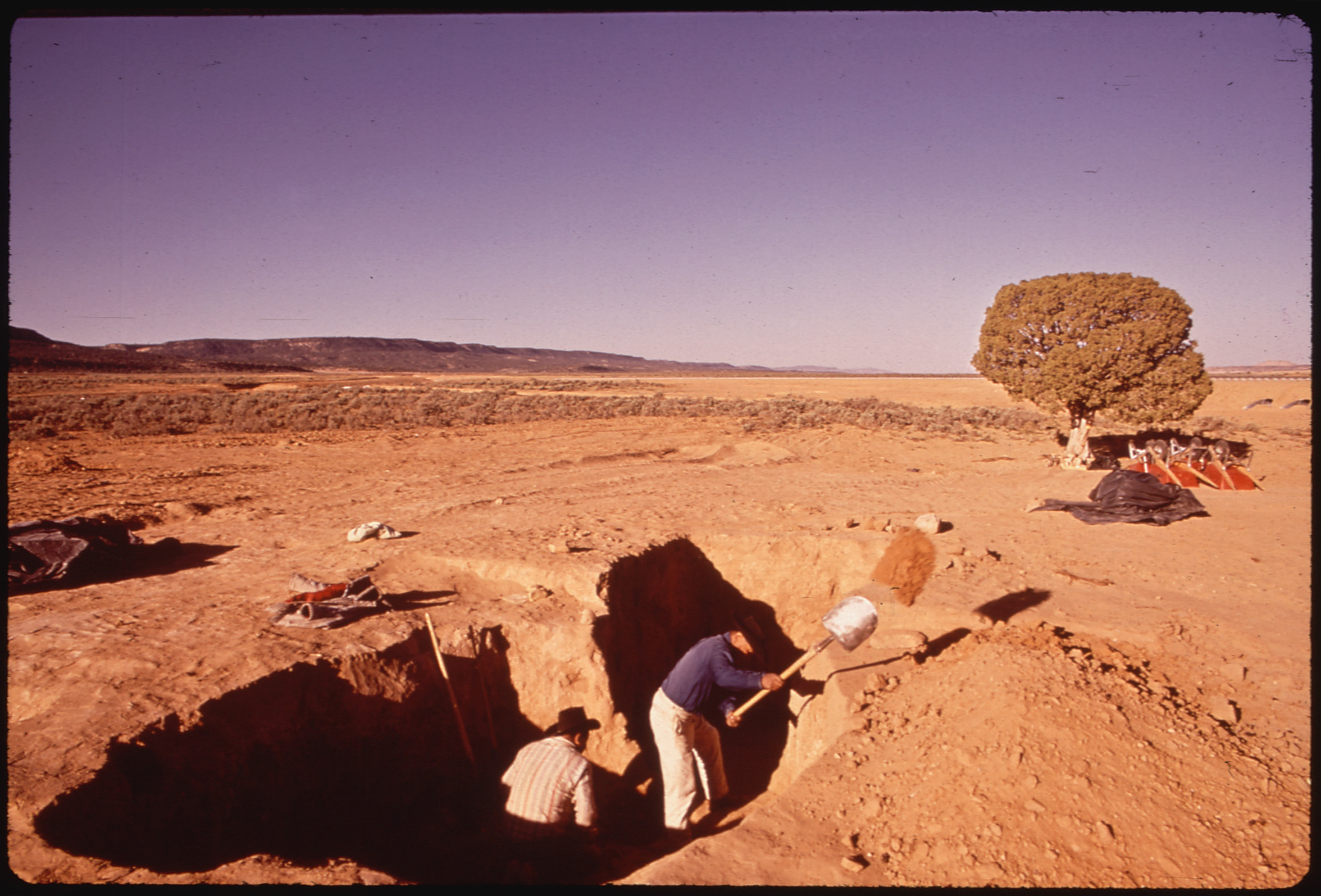 Sklled Navajos Carry Out Archaelogical Excavations. The Dig Is a Project of the Museum of Northern Arizona