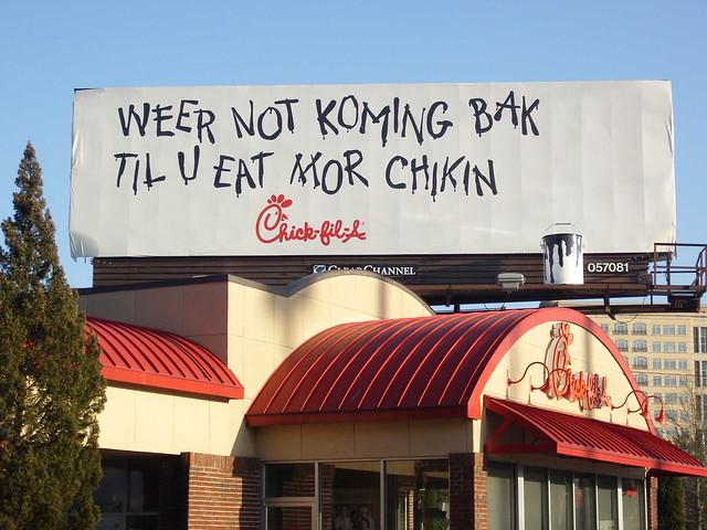 Chick-Fil-A billboard