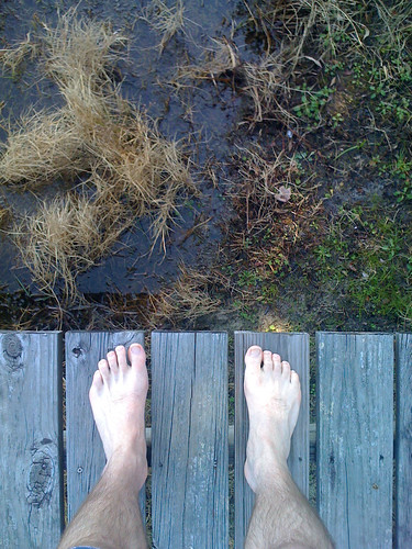 cameraphone camera wood lake eye feet apple shoe dock shoes phone looking view floor legs florida bare perspective ground down surface 3g barefoot fl hawthorne phones iview iphone mcmeekin fromaphoneseyeview