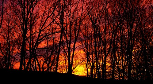 sunset sky nature pentaxk20d