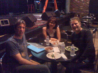 Sound check done and dinner with Cy Curnin (lead singer of the Fix) & Nick Harper before show 2nite | by @Jamnjavadoorgal