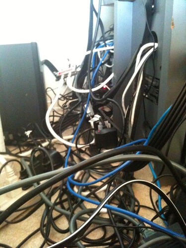 home theater cable management  (1 of 3)