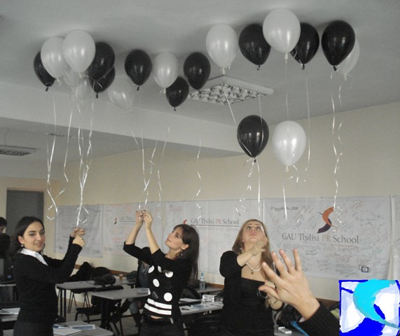 PR School - black & white party